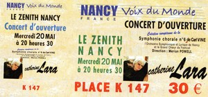 Billet concert Nancy